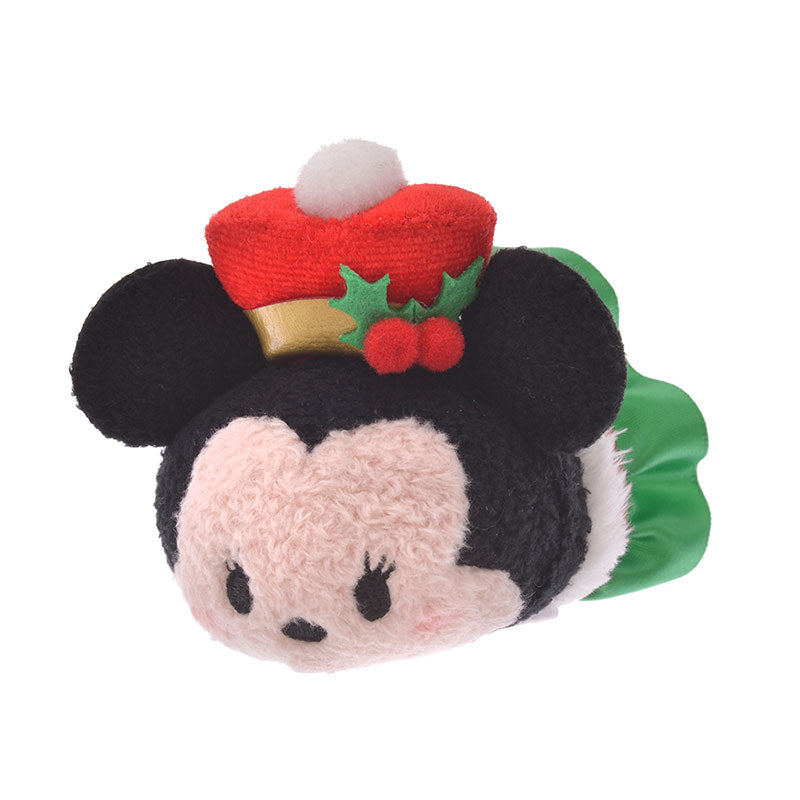 Minnie Tsum Tsum Plush Doll mini S Holly Disney Store Japan Christmas 2019