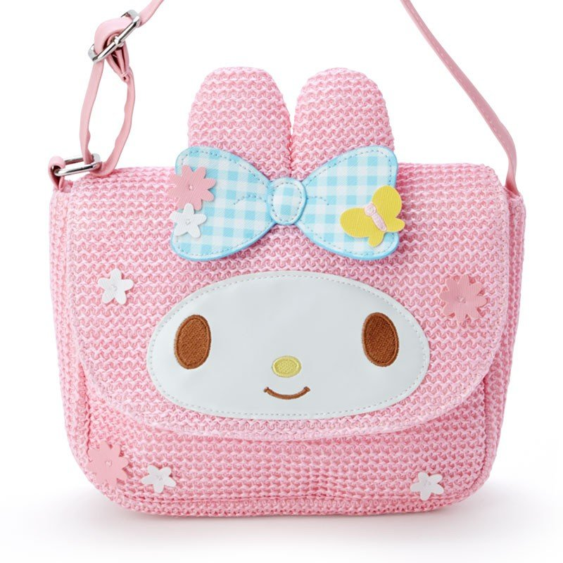 My Melody Kids Shoulder Bag Basket Style Sanrio Japan