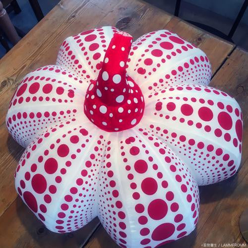 Yayoi Kusama Pumpkin Soft Sculpture Plush Doll L White Red Japan Artist