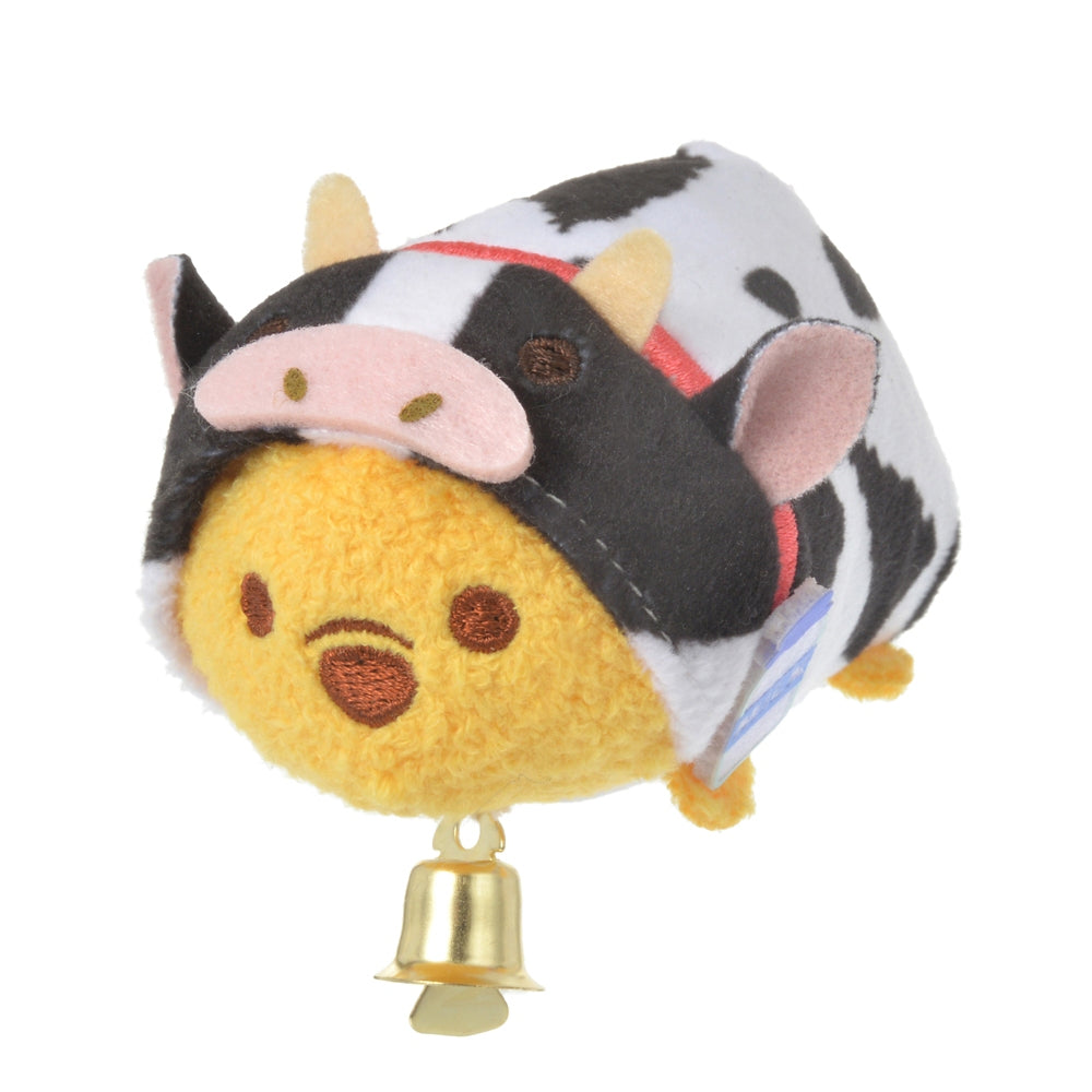 Winnie the Pooh Tsum Tsum Plush S Eto Zodiac Cow Disney Store Japan New Year