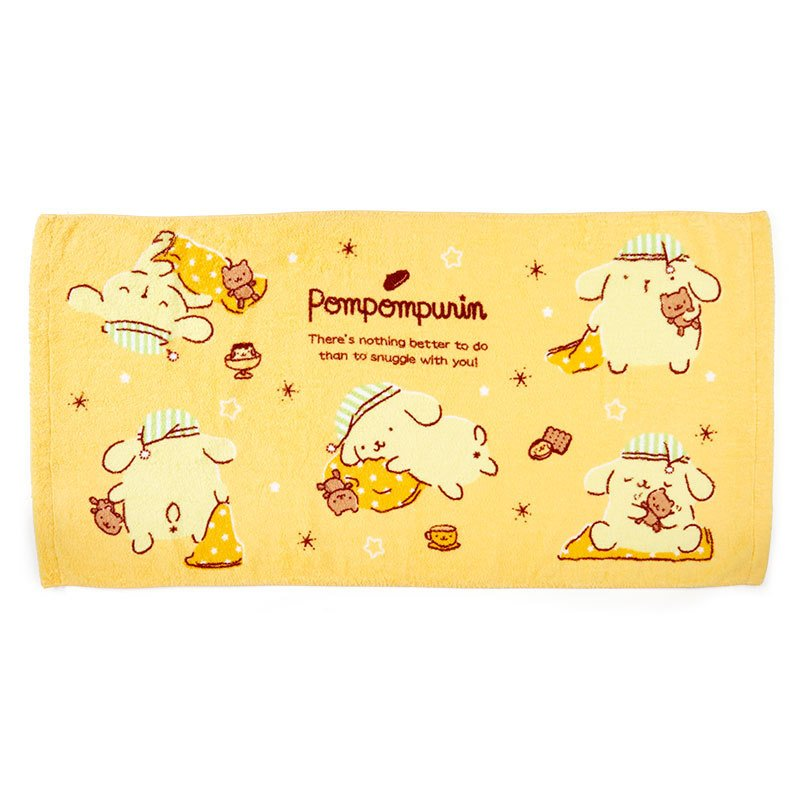 Pom Pom Purin Bath Towel Nemunemu Sleepy Sanrio Japan