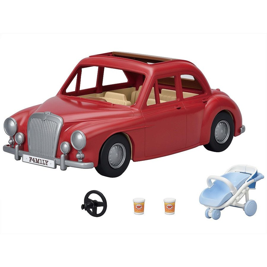 Sylvanian Families Fun Outing Family Car Red Pretend Play Toy V-05 EPOCH Japan