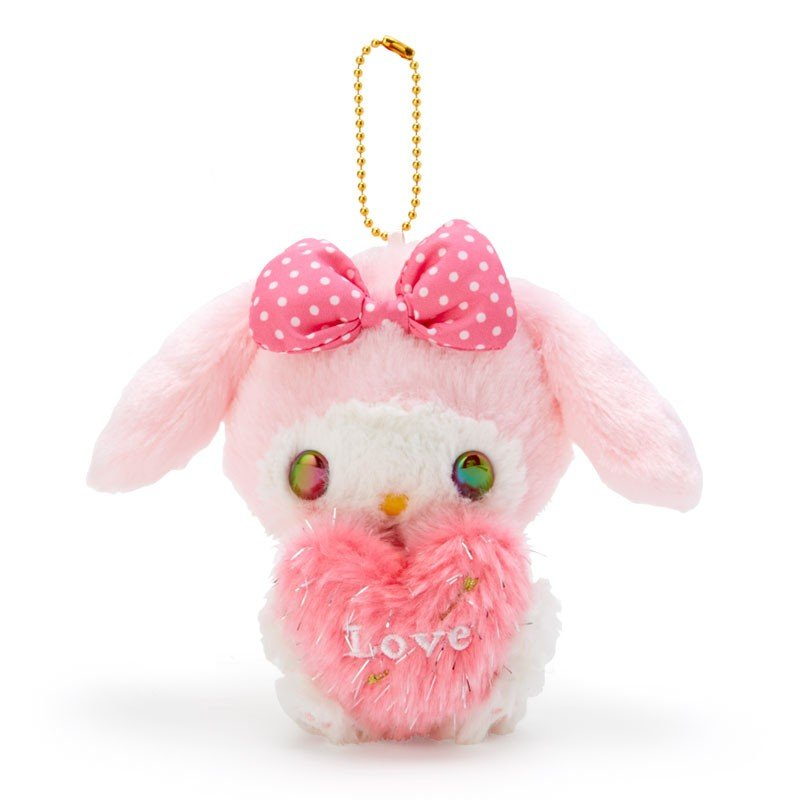 My Melody Plush Mascot Holder Keychain Heart Cupid Sanrio Japan Valentine's Day
