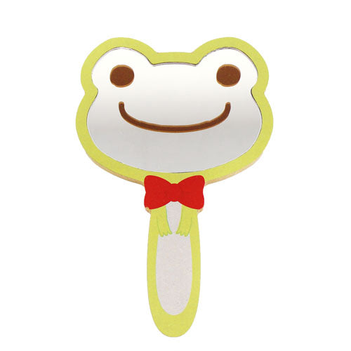 Pickles the Frog Hand Mirror Face Green Japan