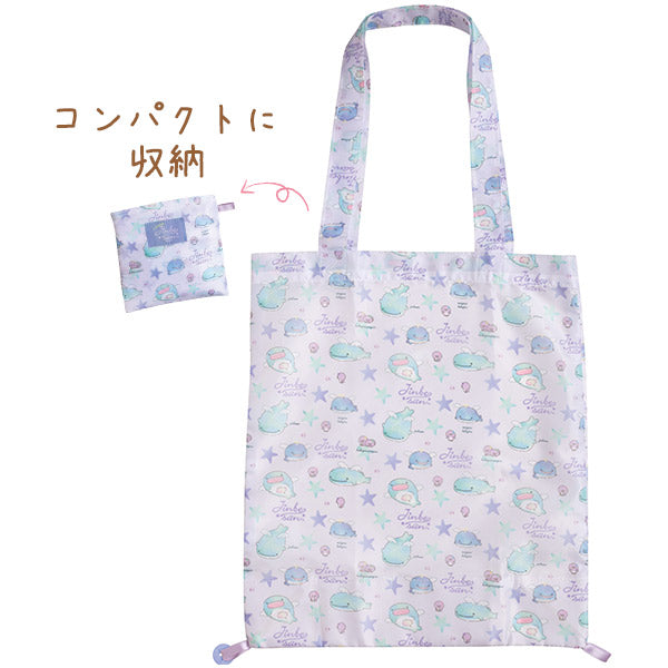 Jinbe San Eco Shopping Tote Bag Starry Sky Penguin San-X Japan