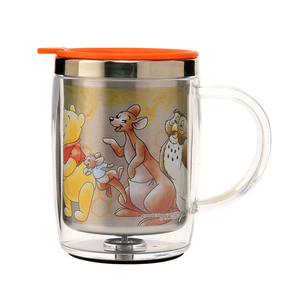 Winnie the Pooh & Friends Stainless Mug Cup good laugh Disney Store Japan