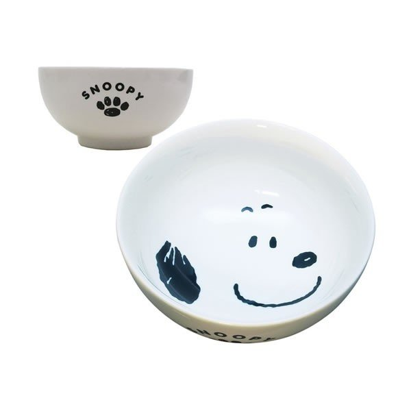 Snoopy Porcelain Rice Bowl PEANUTS Japan
