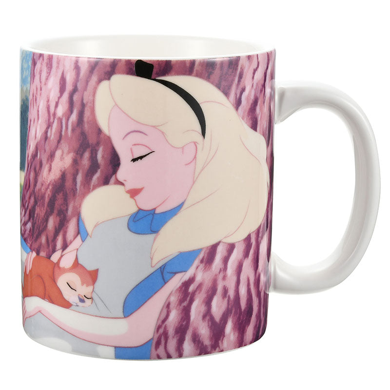 Alice & Dinah Mug Cup Sleep Day Disney Store Japan Alice in Wonderland