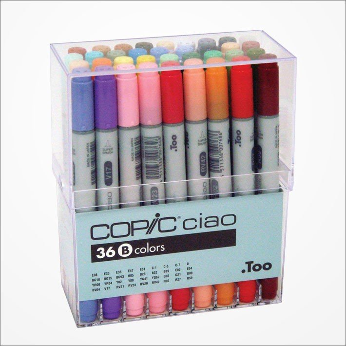 Copic Ciao Marker Pen 36 Colors B Set Japan Manga Comic Illustration