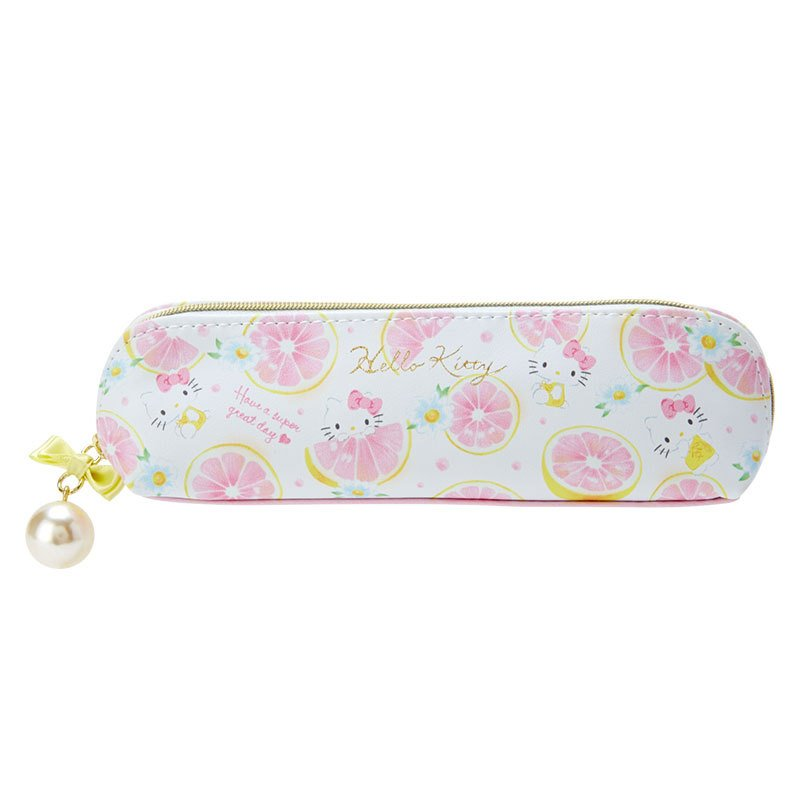 Hello Kitty Slim Pen Case Pencil Pouch Happiness Girl Sanrio Japan 2021