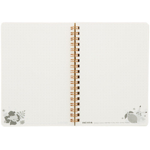 Pikachu drawing Ring Notebook B6 PD3 Flower Pokemon Center Japan
