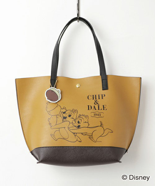Chip & Dale Acorn Tote Bag Yellow Corolle Disney COLORS by Jennifer sky Japan