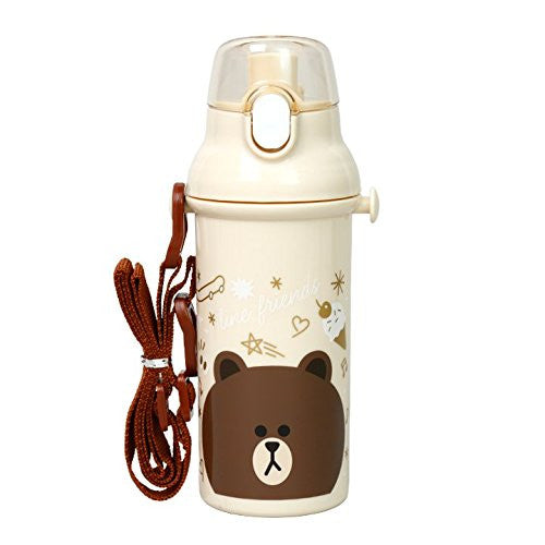 Brown Bear One Touch Bottle LINE FRIENDS Japan