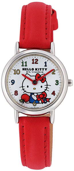 Hello Kitty Wrist Watch Waterproof White Red HK25-001 CITIZEN Q&Q Japan Sanrio
