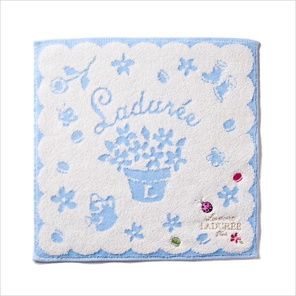 Towel Handkerchief Charm Garden Blue Laduree Japan