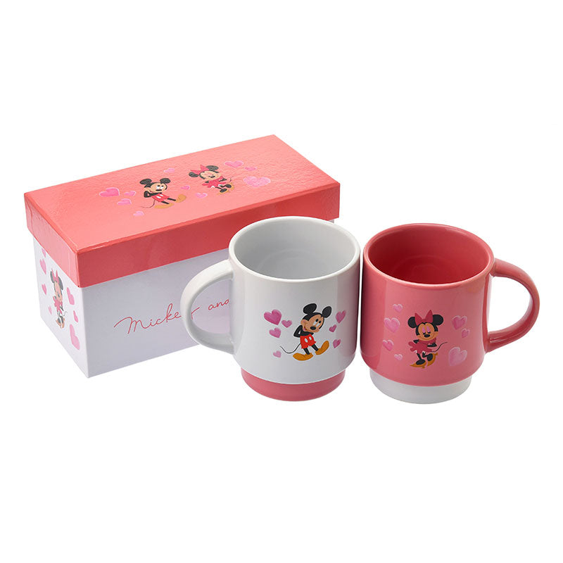 Mickey & Minnie Mug Cup Valentine 2020 Disney Store Japan Gift Box