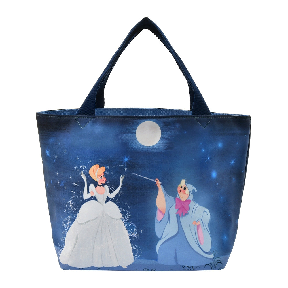 Cinderella Tote Bag Reversible Navy Follow your dreams Disney Store Japan