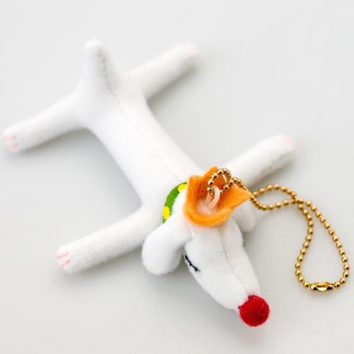 Yoshitomo Nara PUP KING mini Plush Keychain dog Japan Art