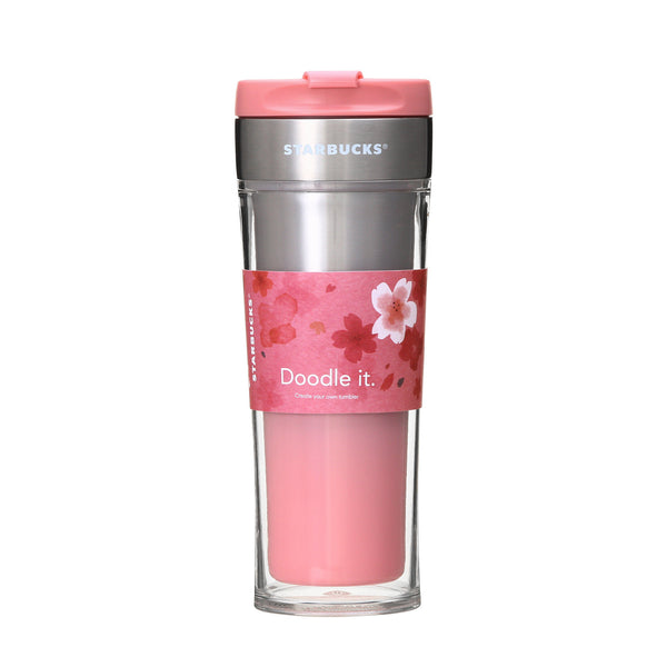 SAKURA 2018 Stainless Create Your Tumbler Plaid 473ml Starbucks Japan