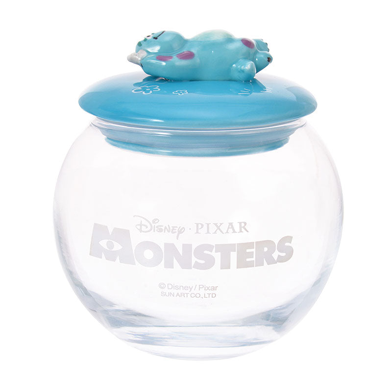 Monsters Inc Sulley Canister Glass Round Disney Store Japan