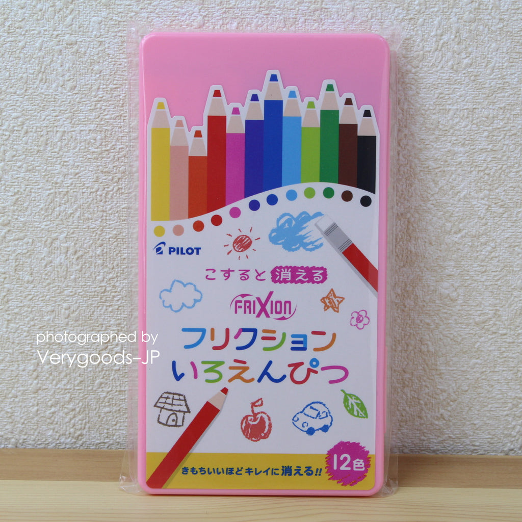 Pilot Japan Erasable Colored Pencil 12 color Set pink
