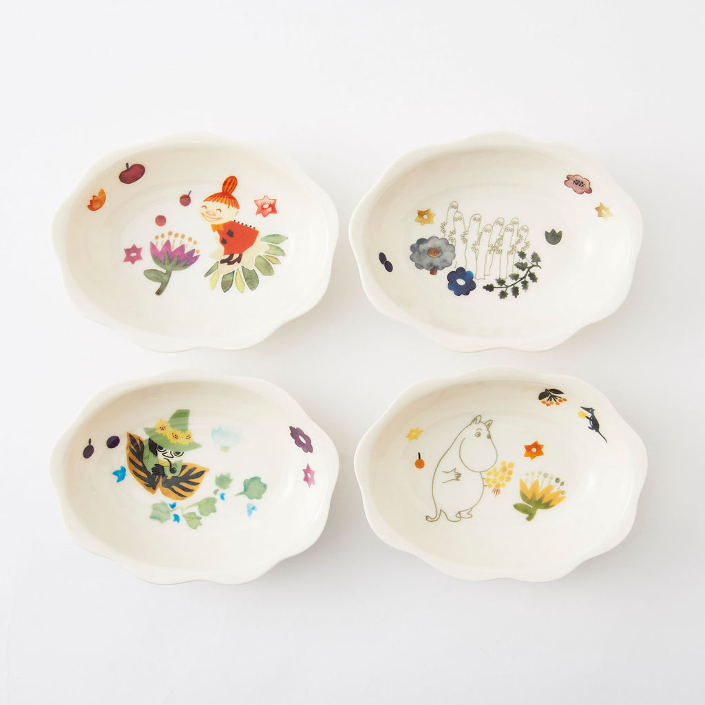 Moomin Flower Bowl Set 4pcs Herbarium Japan