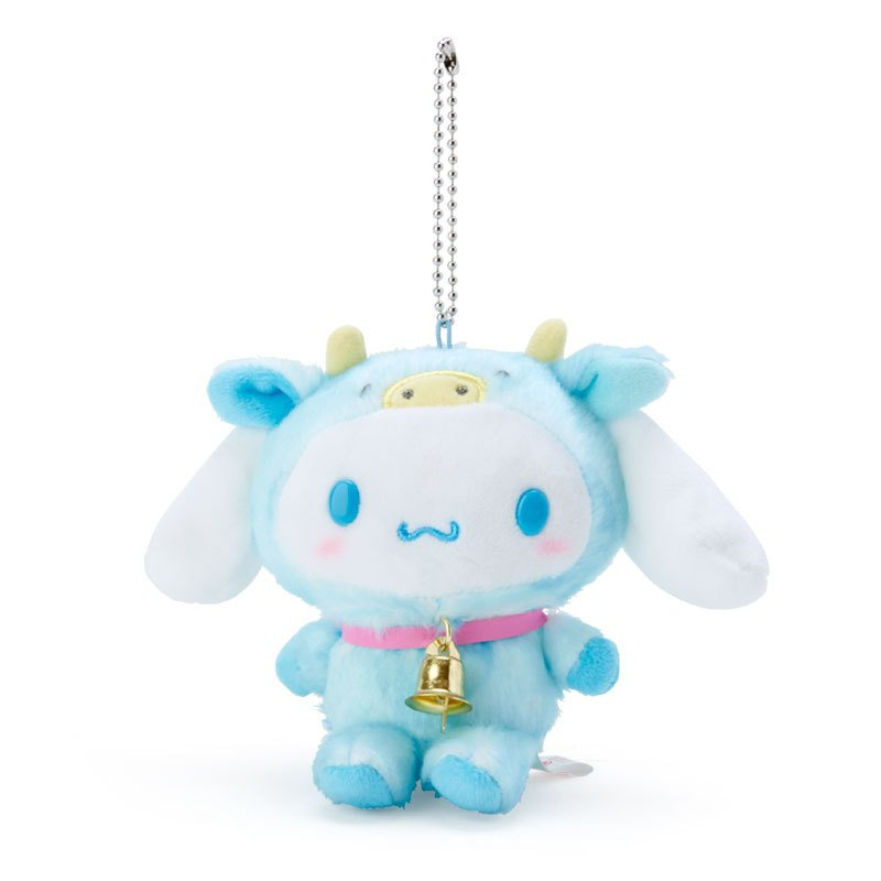 Cinnamoroll Plush Mascot Holder Keychain Zodiac Cow Sanrio Japan New Year 2021