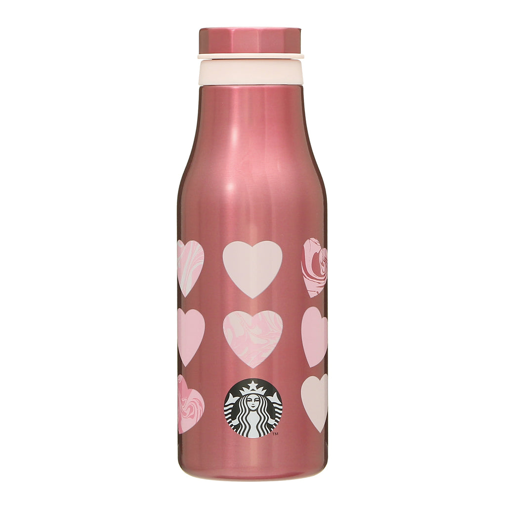 Stainless Bottle Tumbler Marble Heart Valentine's Day 2021 Starbucks Japan