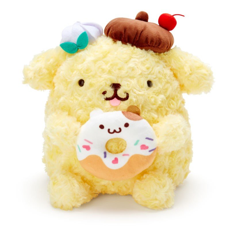 Pom Pom Purin & Muffin Plush Doll M Pudding a la mode Sanrio Japan