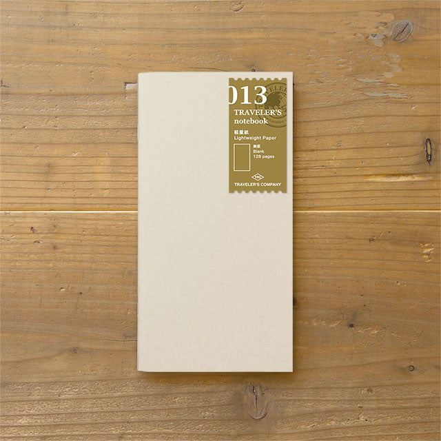 Traveler's Notebook Japan Regular Size Refill 013 Lightweight Paper 14287006