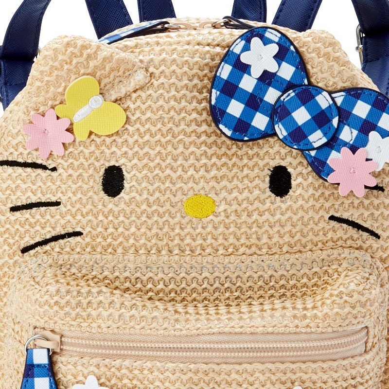 Hello Kitty Kids Backpack Basket Style Sanrio Japan