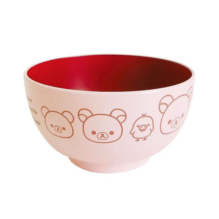 Rilakkuma Soup Bowl Kids Pink Happy Life San-X Japan