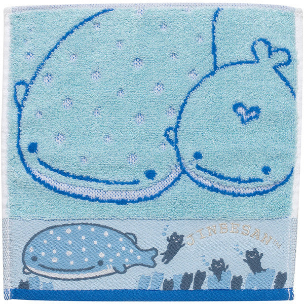 Jinbei San Whale Shark mini Towel with Swaying Root Kelp San-X Japan