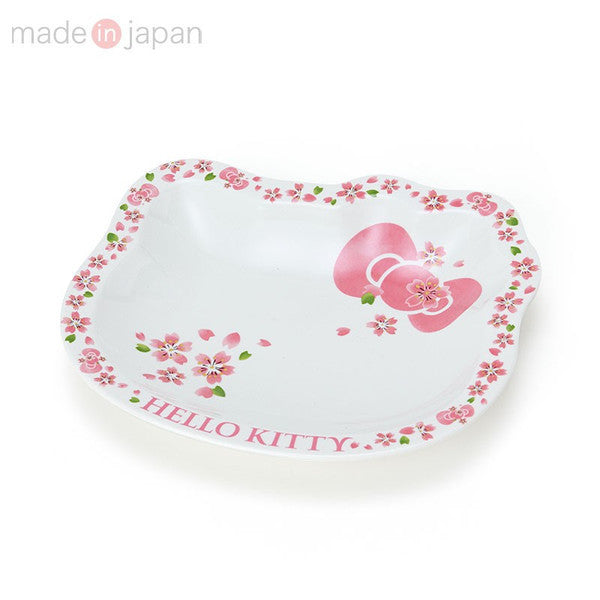 Hello Kitty Porcelain Plate Face M Sakura Sanrio Japan