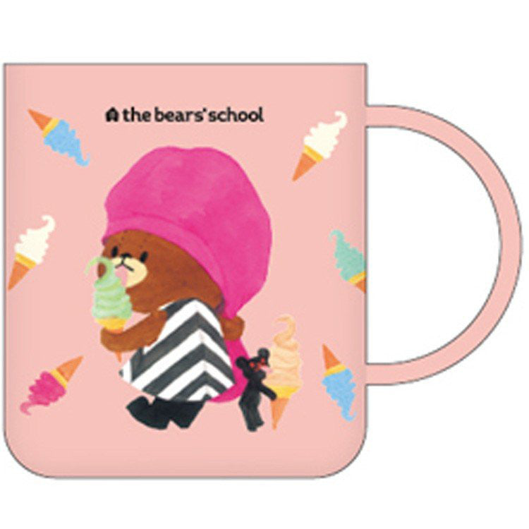 Jackie Plastic Cup 250ml Pink the bears' school Japan