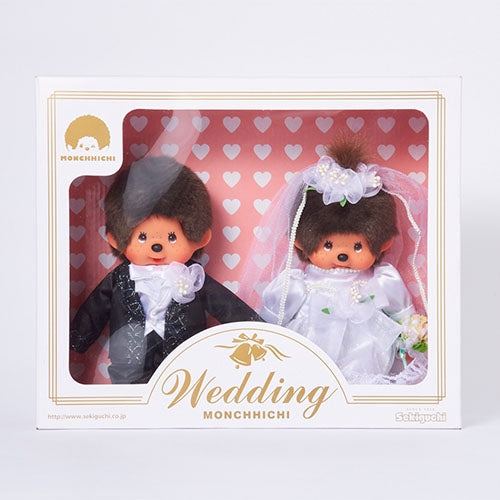 Monchhichi Doll Wedding Set Japan with Box