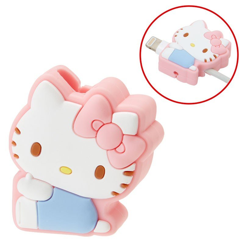 Hello Kitty Cable Protection for iPhone Pink Sanrio Japan Cross type