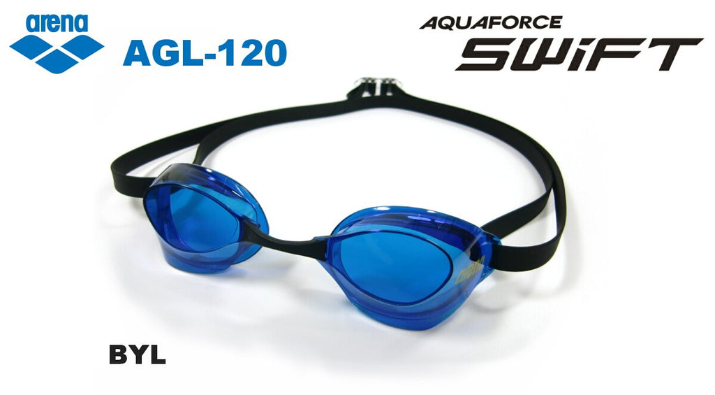 Swimming Goggles Anti-fog Non-cushion AGL 120 BYL Blue Black FINA arena Japan