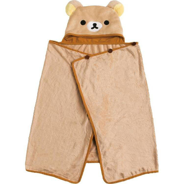 Rilakkuma Poncho Blanket Soft Brown San-X Japan