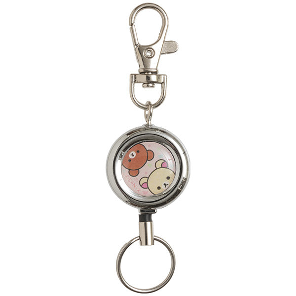 Rilakkuma & Chairoikoguma Reel Keychain Key Holder B San-X Japan