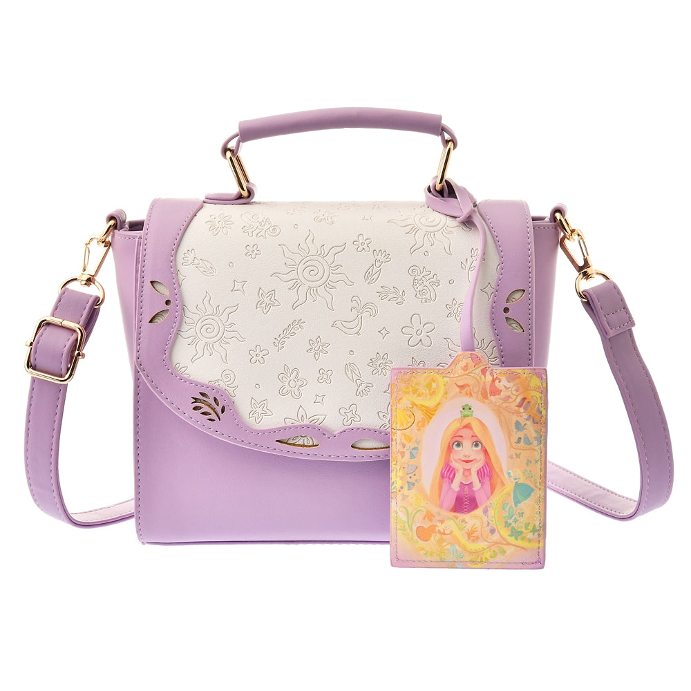 Rapunzel Pascal Shoulder Bag with Pass Case Tangled 10 Years Disney Store Japan