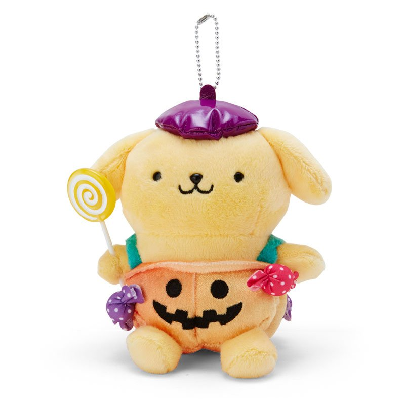 Pom Pom Purin Plush Mascot Holder Keychain Sanrio Japan Halloween 2020