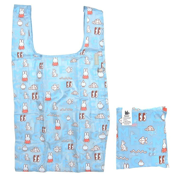 Miffy Eco Shopping Tote Bag Animal Blue ROOTOTE Japan ROO-shopper