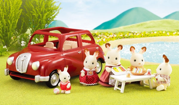 Sylvanian Families Outing Family Car V-01 Red From Japan (Calico Critters)
