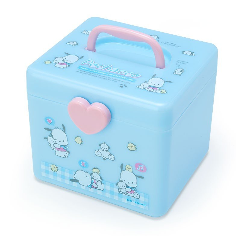 Pochacco Storage Box M with Handle Sanrio Japan