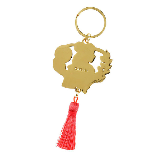 Belle Keychain Key Holder SIDE BY SIDE Disney Store Japan Beauty and the Beast