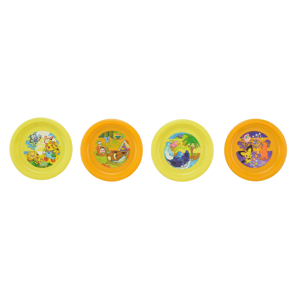 Pikachu Plate 4pcs Set Summer Life Japan Original
