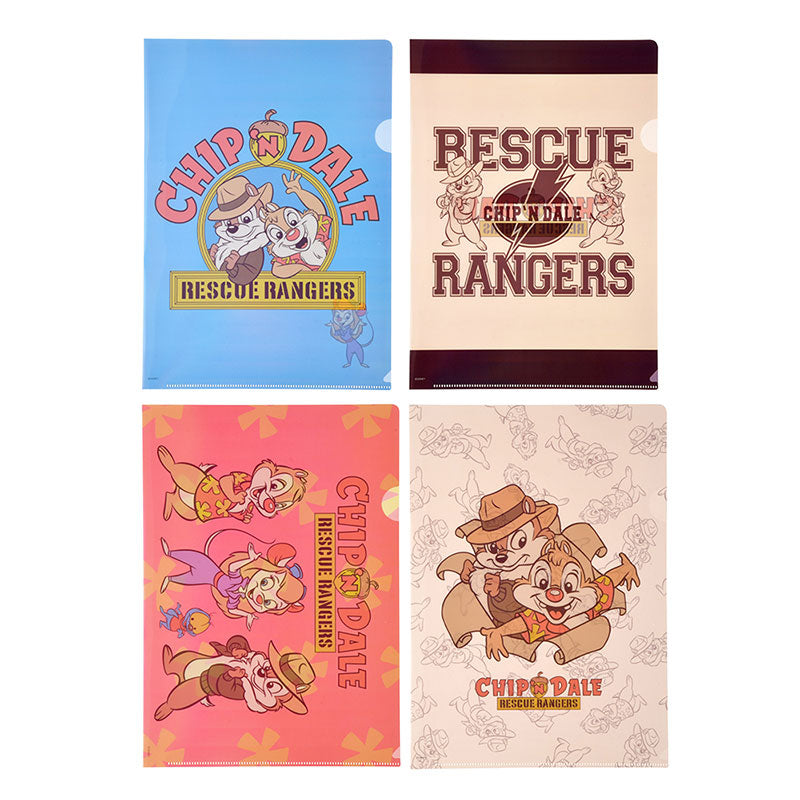 Chip & Dale File Holder 4pcs Set Rescue Rangers 2019 Disney Store Japan