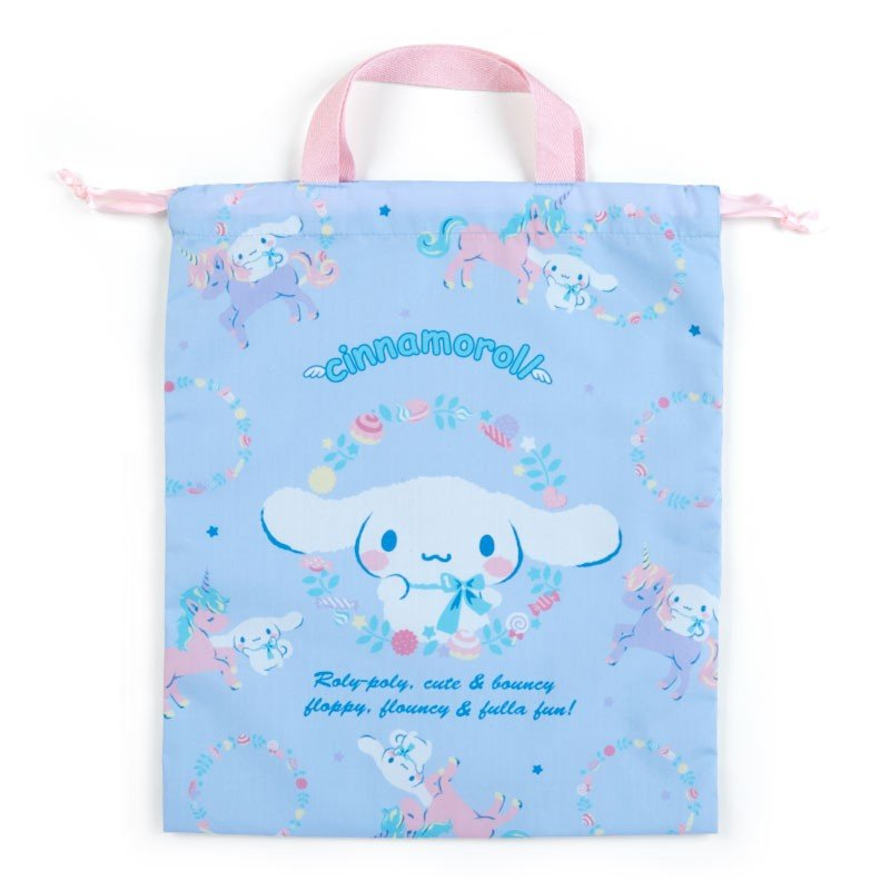 Cinnamoroll Drawstring Pouch with Handle Unicorn Sanrio Japan