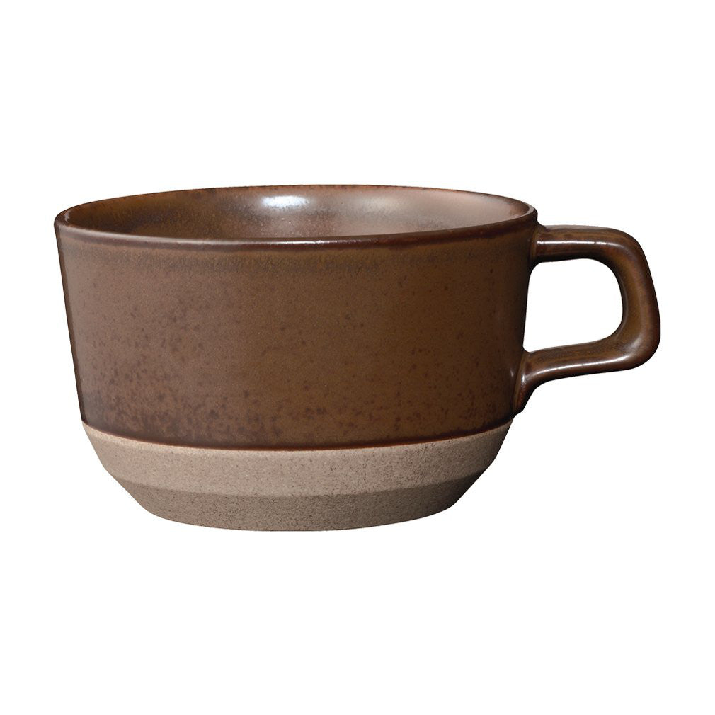 CERAMIC LAB Wide Mug Cup CLK-151 400ml Brown KINTO Japan 29527